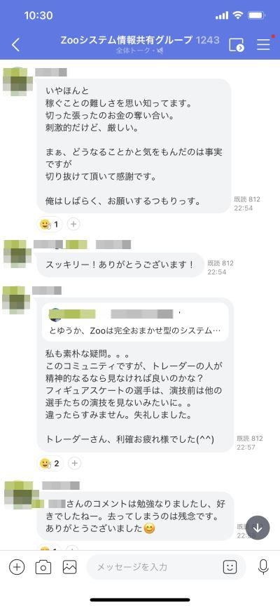 ZOOコミュニティー2021年8~12日の週報実績-1