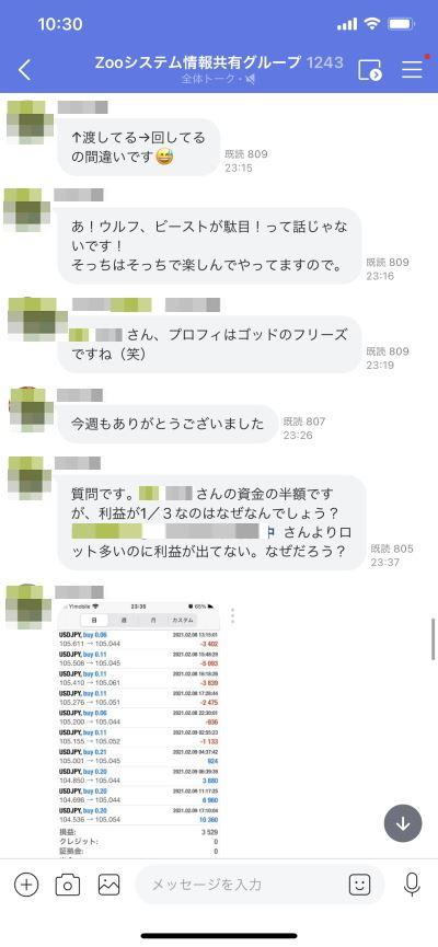 ZOOコミュニティー2021年8~12日の週報実績-4