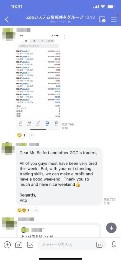 ZOOコミュニティー2021年8~12日の週報実績-7